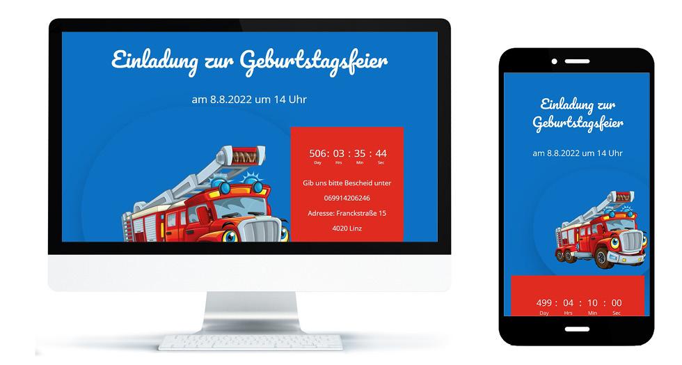Geburtstag online Style Feuerwehr
